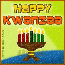 Happy Kwanzaa candles celebrating the Seven Principals of family and community