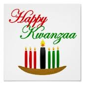 Happy Kwanzaa banner with seven candles